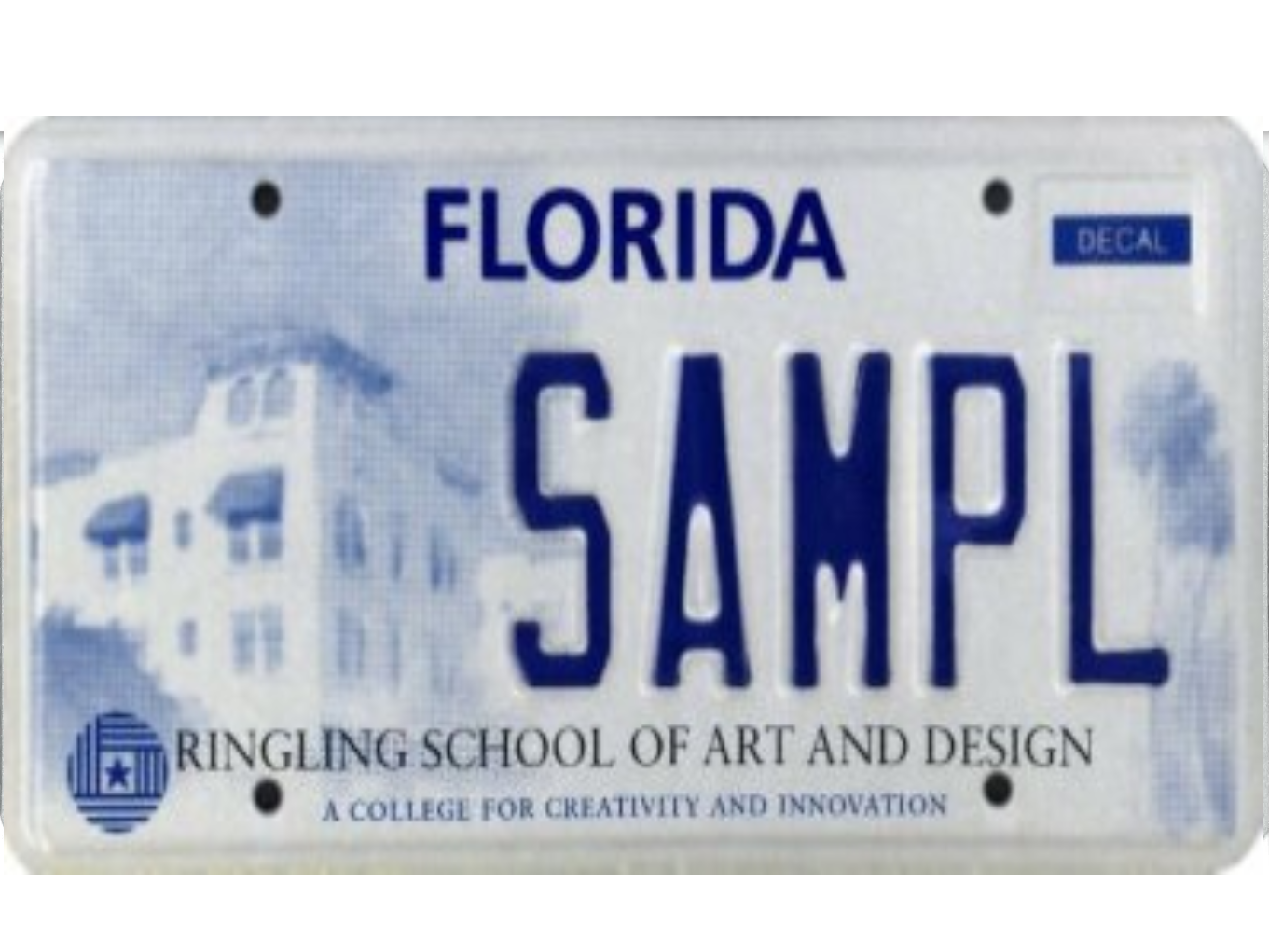 The Ringling School of Art and Design license plate.