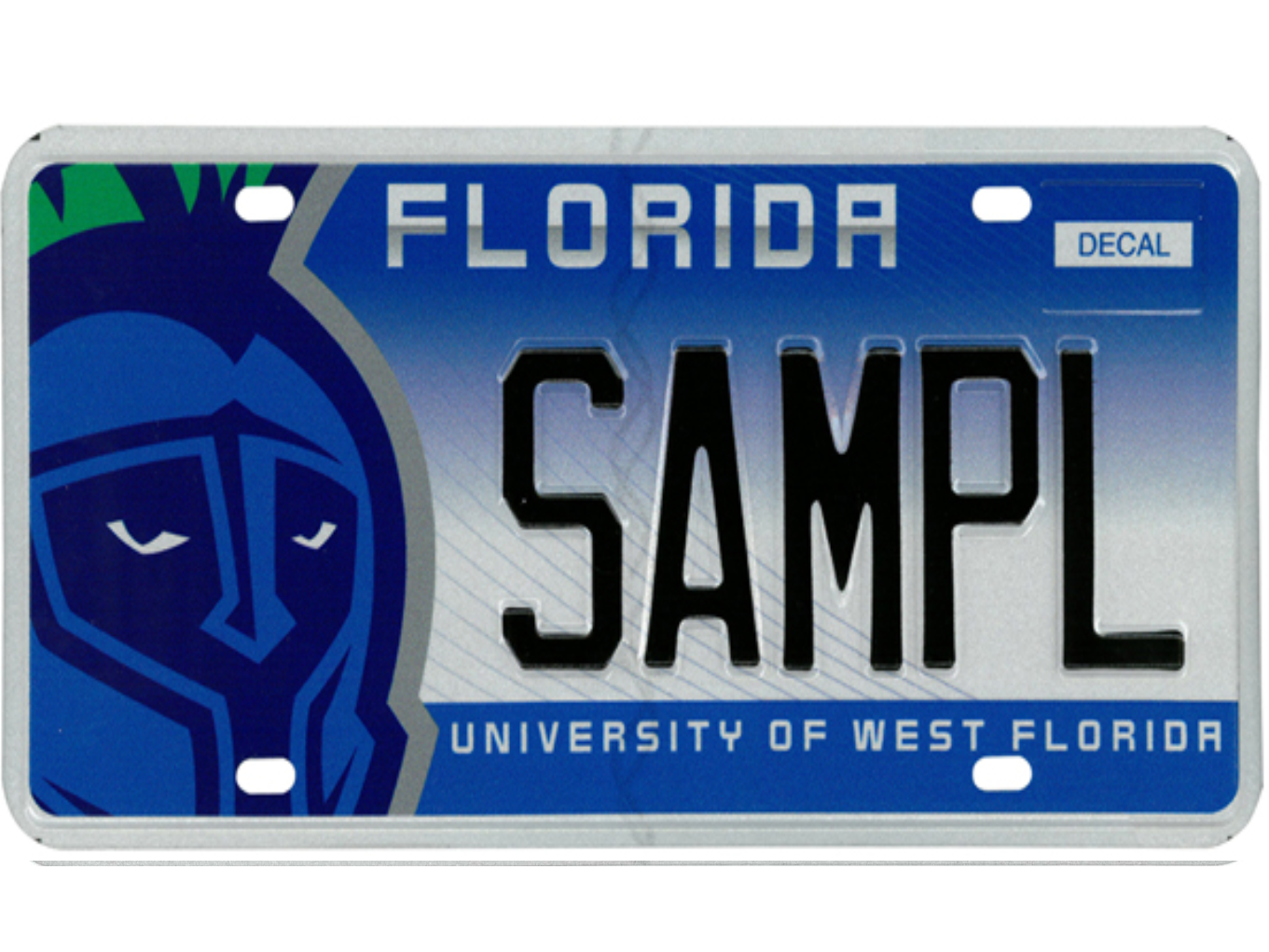 The University of West Florida license plate.