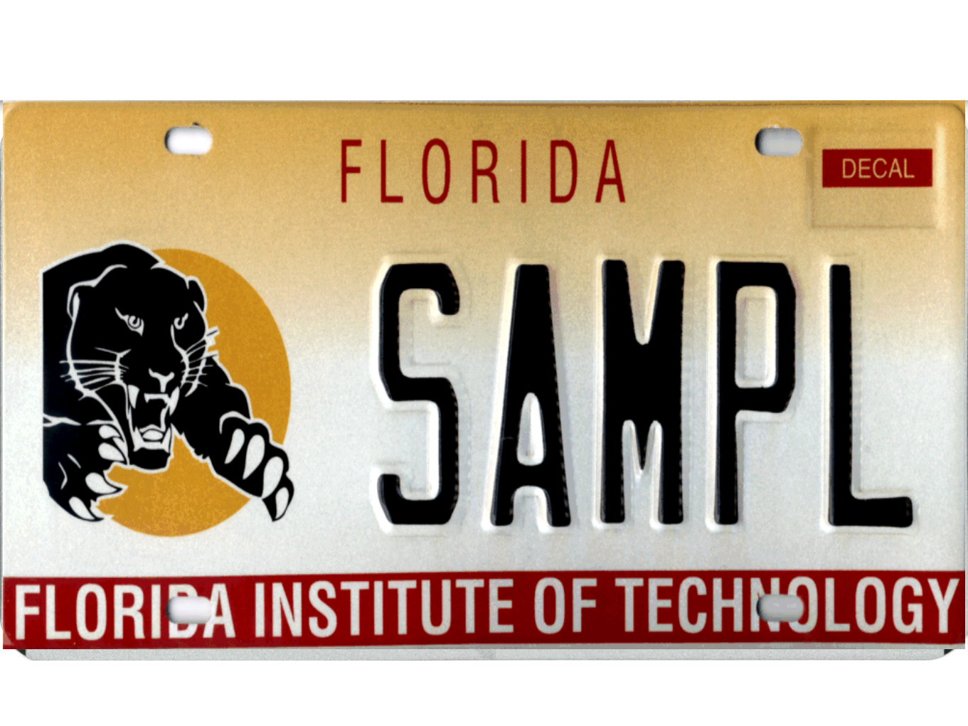 The Florida Institute of Technology license plate.