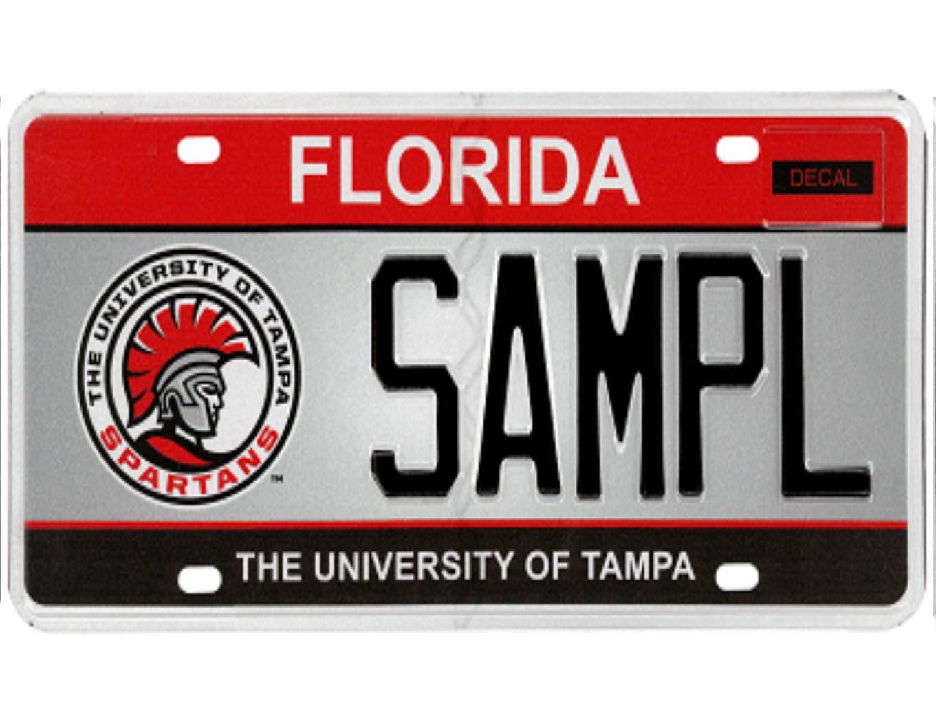 The University of Tampa license plate.