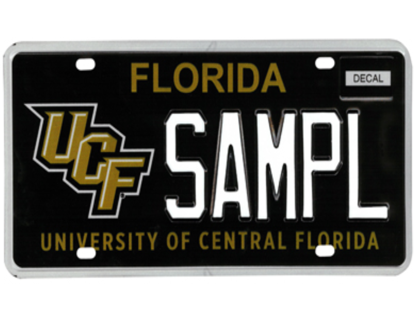 The University of Central Florida license plate.