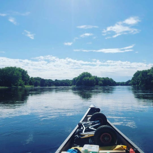 Erik Elsea has enjoyed amazing views as he navigates the Mississippi River, on a voyage the entire length of the river to raise funds for ShelterBox USA.  Photo courtesy of Erik Elsea