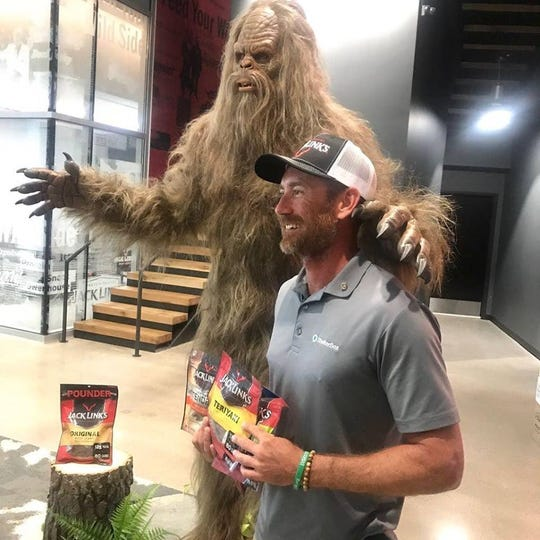 """As he heads into his second month on the water, Erik Elsea of Cape Coral said he's eating lots of jerky from sponsor Jack Link's Beef Jerky. He'd even stopped at the company's headquarters, in Minong, Wisconsin.  """"I've been eating it every day, and I'm not close to being tired of it,"""" he said."""