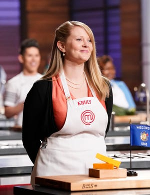 "Neenah native Emily Hallock competes on the ninth season of ""MasterChef."""
