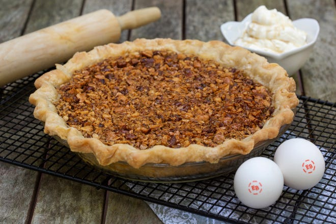 The Maple Syrup N Mixed Nut Pie With Maple Cream recipe from Barbara Estabrook, Appleton, earned a spot in a national contest run by Eggland's Best.