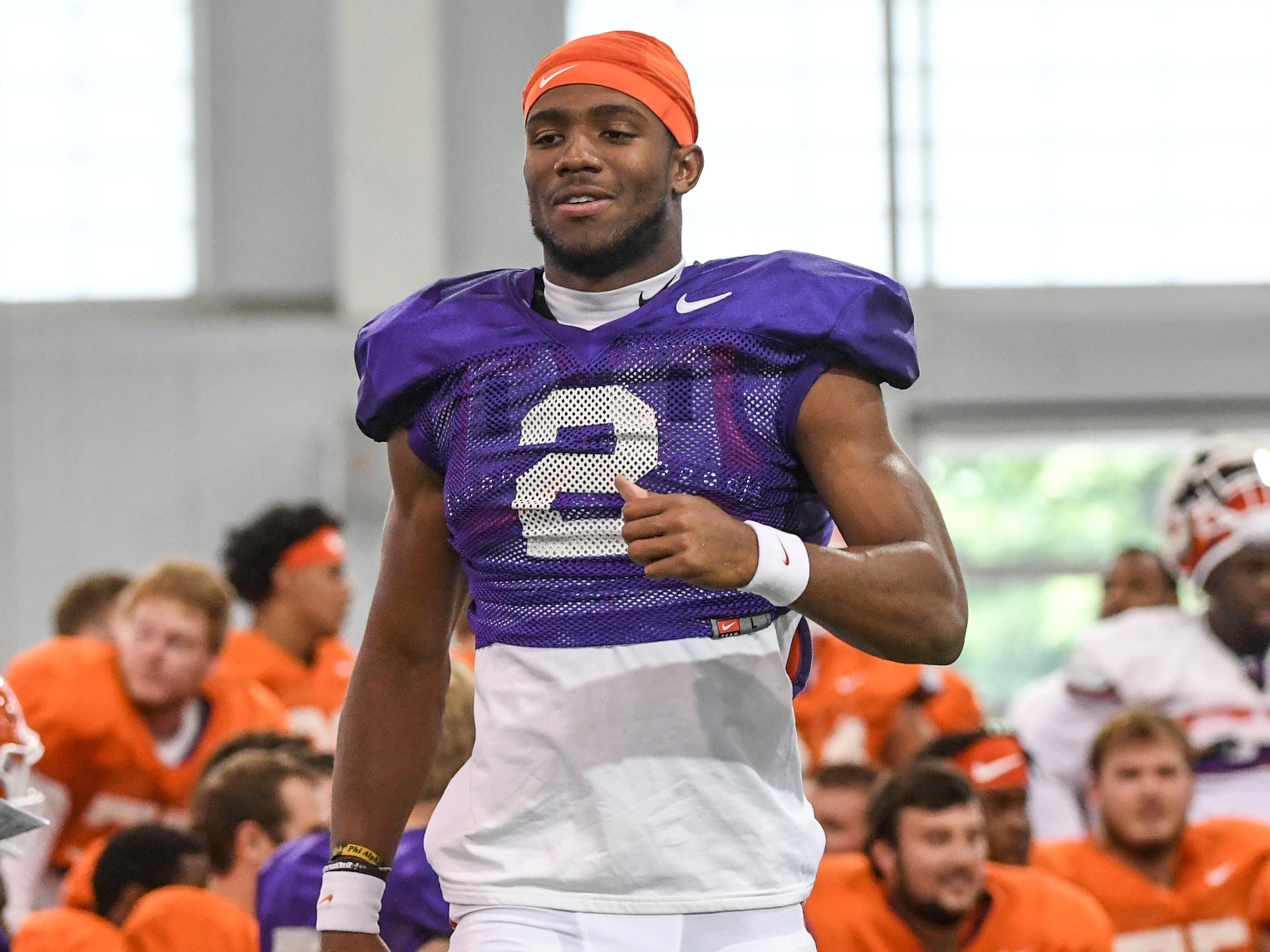 Clemson quarterback Kelly Bryant (2) during fall practice in Clemson on Wednesday.