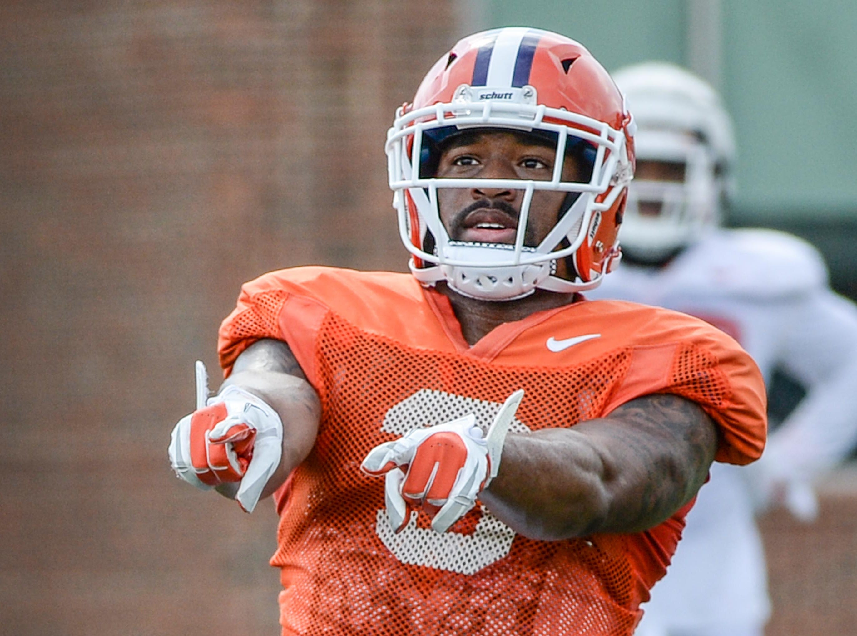 Clemson wide receiver Amari Rodgers (3) during fall practice in Clemson on Wednesday.
