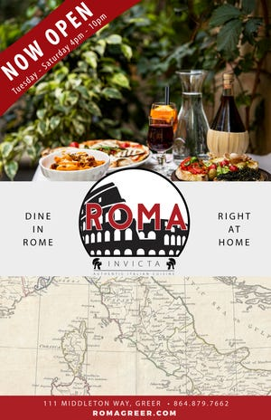 Roma Invicta is the new restaurant from the owners of Wild Ace Pizza and Pub in Greer.