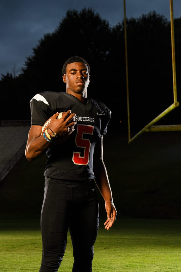 Southside's Jalon Calhoun, who passed for 2,226 yards and 20 touchdowns as a junior, will be starting at both quarterback and cornerback for the Tigers this season.