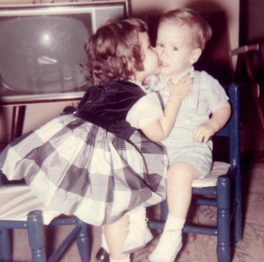 Suzie Foley and her brother, Jim Sturdy, growing up.
