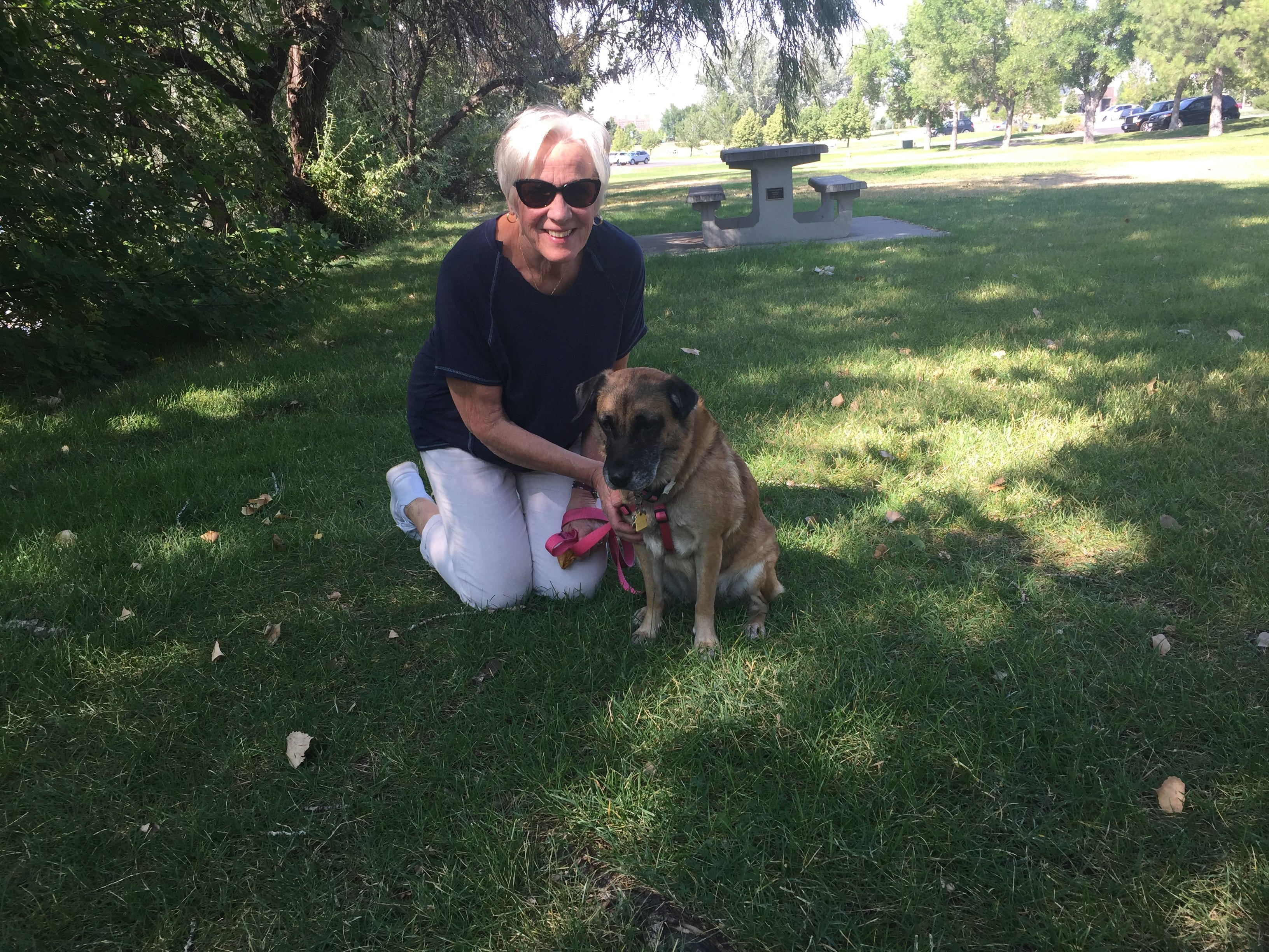 "Mary Lou O'Keefe and Sadie headed north last week to escape the Arizona heat. ""This doesn't feel bad,"" said O'Keefe when told the temperatures just reached 100 degrees in Great Falls."