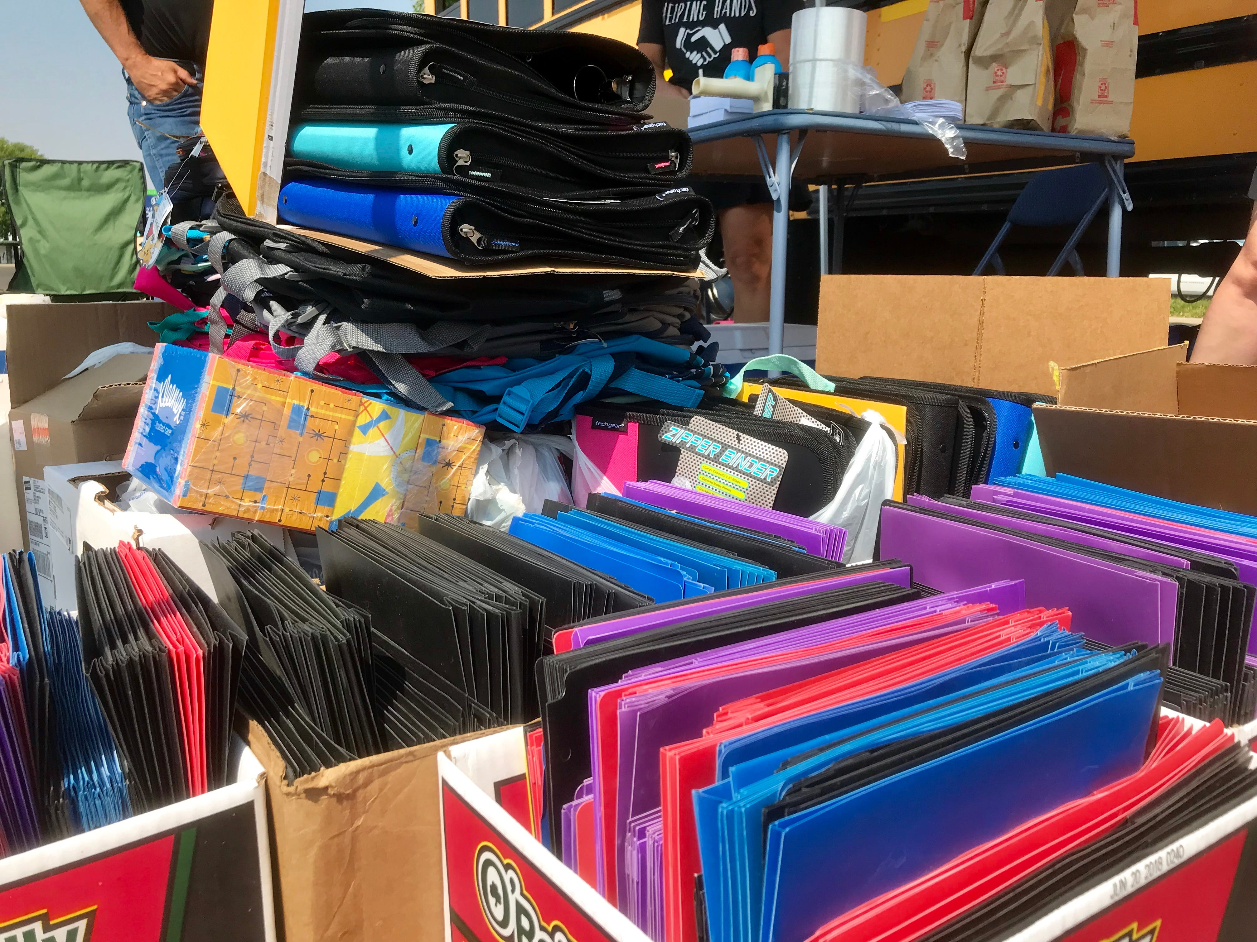 The 2018 Stuff the Bus campaign collected school supplies, toiletries and money for local students in need.