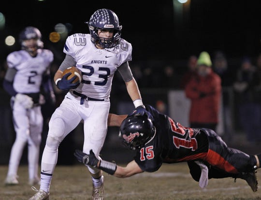 Jackson Anthrop (23) was a three-time all-state selection at Lafayette Central Catholic.