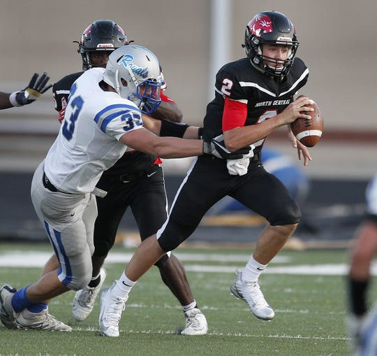 Liam Thompson passed for more than 2,000 yards last season for North Central.