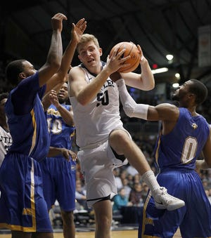 Butler center Joey Brunk is down to 235 pounds after a summer of workouts with new strength coach Matthew Johnson.