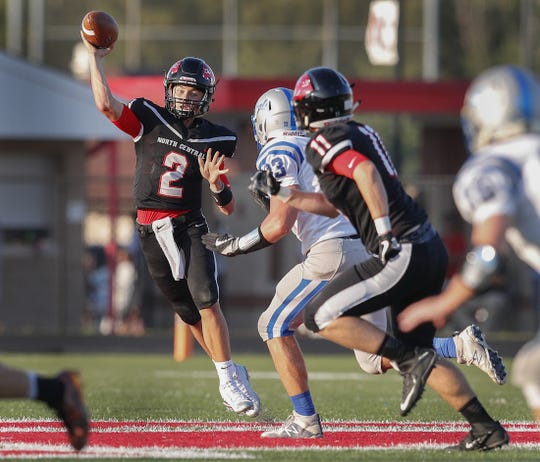North Central quarterback Liam Thompson (2) returns as the Panthers' starter this season.