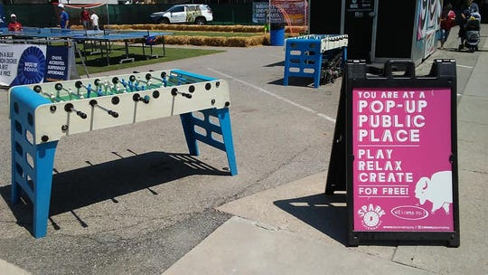 You can play free foosball at the 2018 Indiana State Fair.