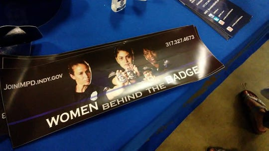 "You can grab an IMPD ""Women Behind the Badge"" poster at the 2018 Indiana State Fair."