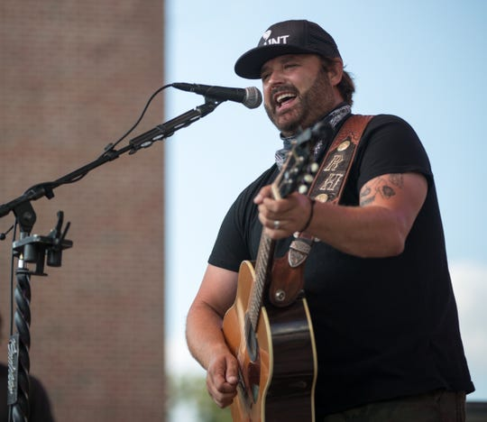 Randy Houser performs at the Indiana State Fair, Indianapolis, Wednesday, Aug. 8, 2018.