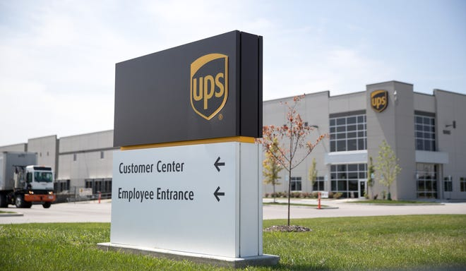 The UPS hub in Plainfield, the site of a recent walkout by employees of a construction contractor over comments made by a construction manager. Thursday, Aug. 9, 2018.