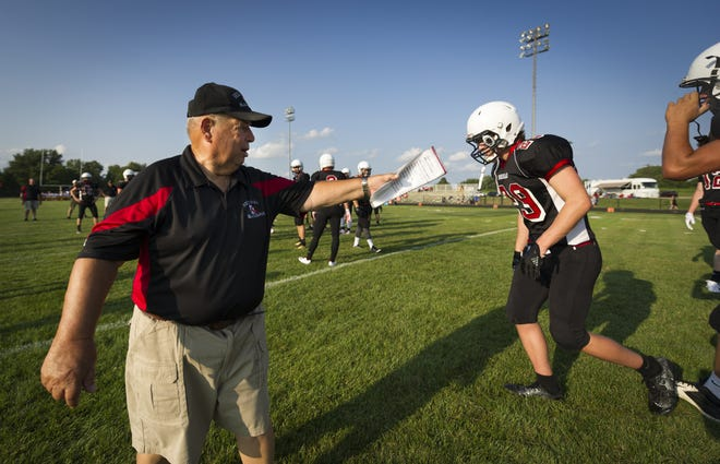 Sheridan coach Bud Wright stars his 53rd year coaching football this season.