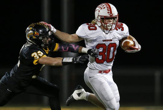 Center Grove's Carson Steele rushed for 1,703 yards, 20 touchdowns as a freshman last season.