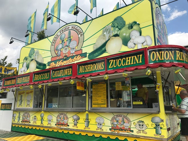 The Dr.  Vegetable stands at the 2018 Indiana State Fair satisfy vegans and vegetarians looking to get their fair food fix.