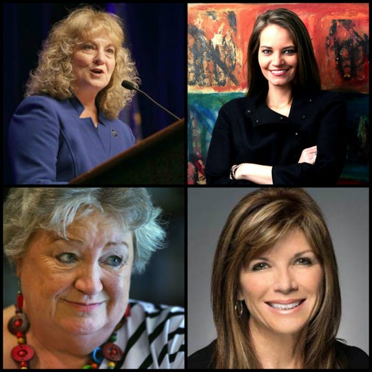 TOP LEFT: President and CEO for Advancing Public Schools Glenda Ritz (Jenna Watson/IndyStar) TOP RIGHT: Interim President for the Arts Council of Indianapolis Shannon Linker (Photo courtesy of Muncie Arts and Culture Council) BOTTOM RIGHT: CEO of Integrating Women Leaders Kim Graham Lee (Photo courtesy of Integrating Women Leaders) BOTTOM LEFT: Former CEO of Planned Parenthood Betty Cockrum (Kelly Wilkinson/IndyStar)
