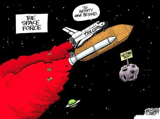 The national debt is headed to infinity and beyond.