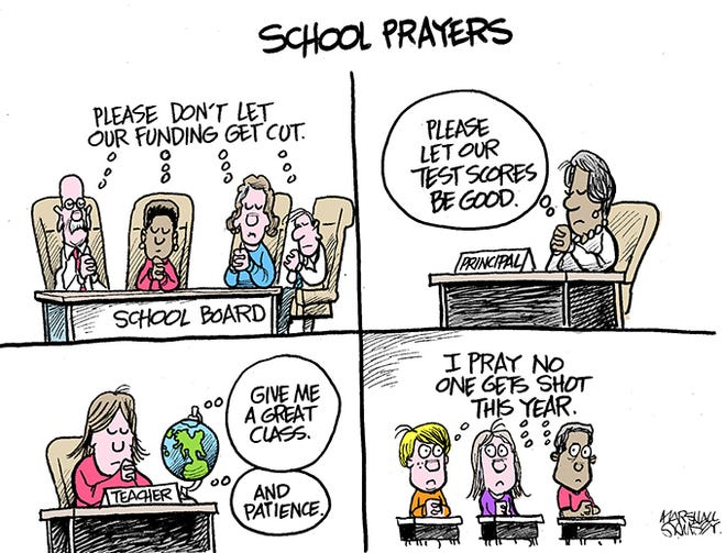 Prayers for the 2018-2019 school year.