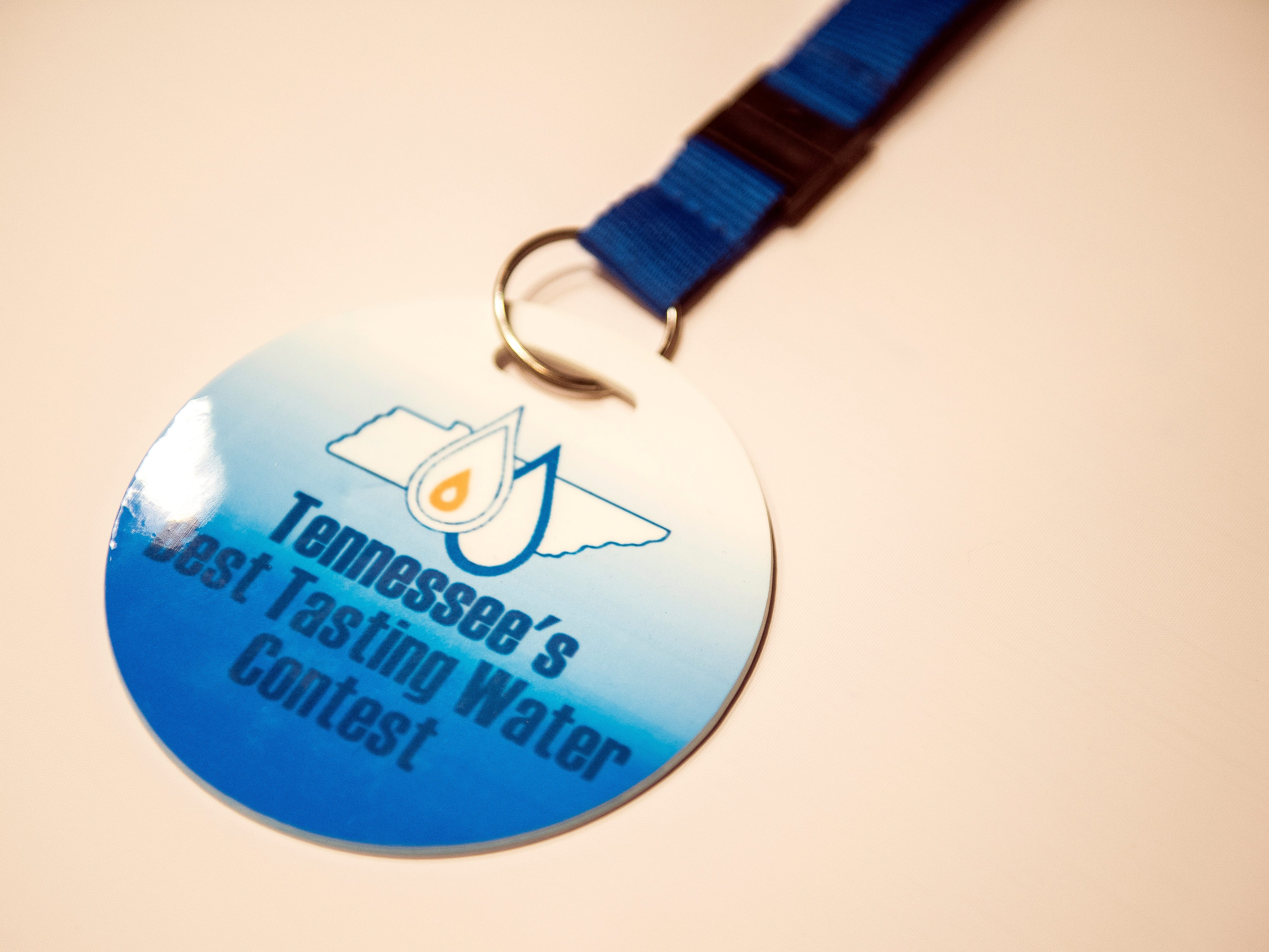 A judge's lanyard for Tennessee's Best Tasting Water Contest held on Thursday, August 9, 2018, during the Tennessee Association of Utility Districts' business conference held at the Gatlinburg Convention Center.