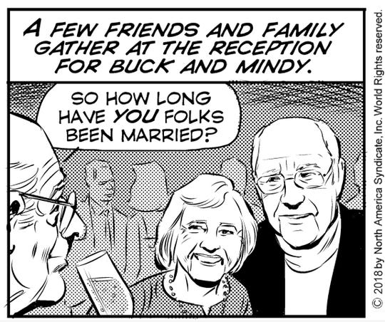 """""""Rex Morgan, MD"""" panel featuring Shirley and Ron Bugos"""