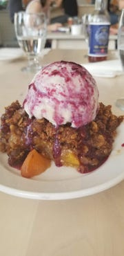 Vegan Peach and Blueberry Cobbler