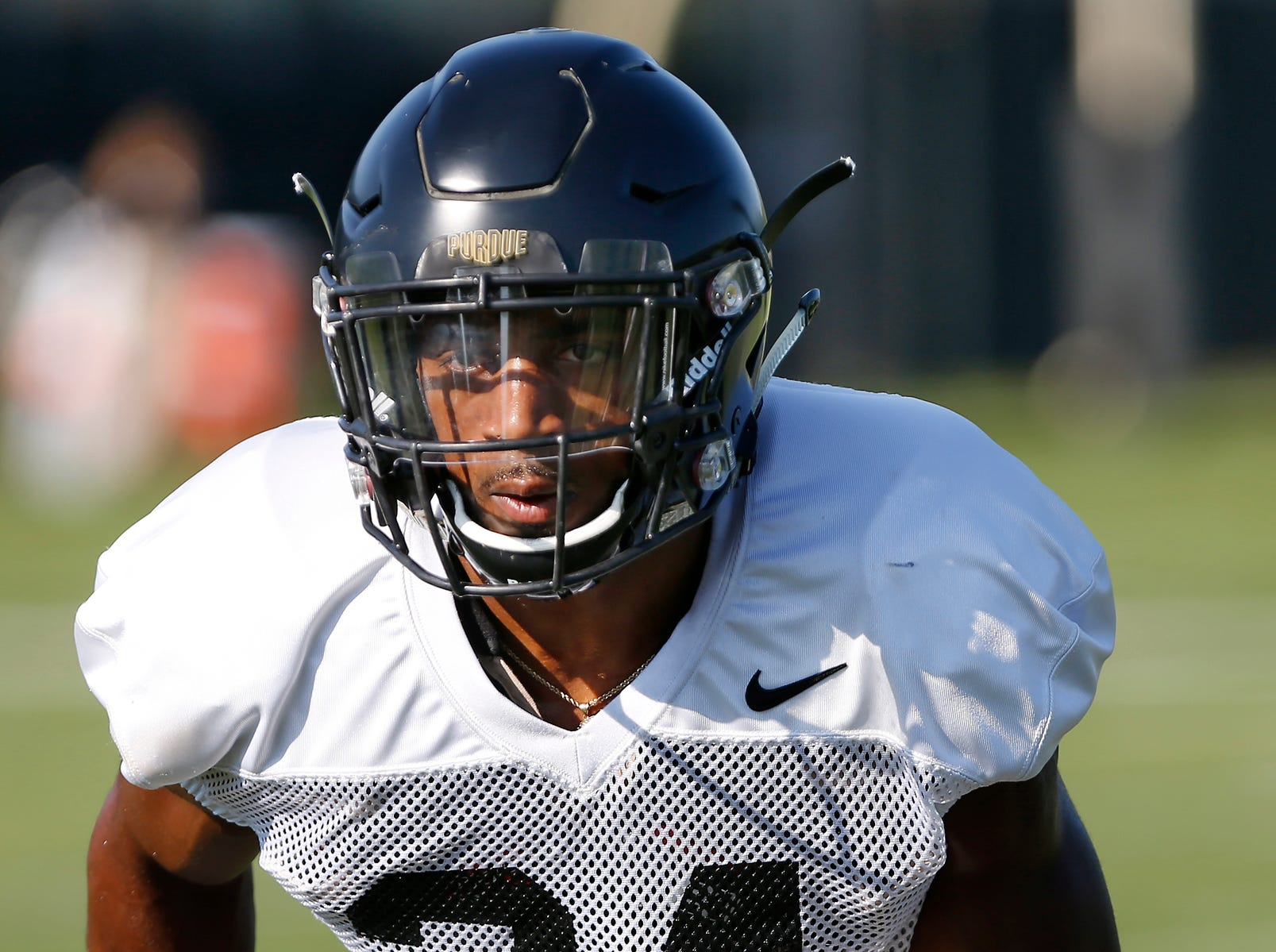 Cornerback Tim Cason during Purdue football practice Thursday, August 9, 2018, in West Lafayette.