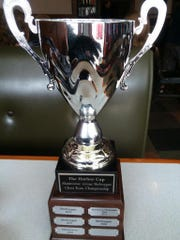Manitowoc Chess Club claimed the 2018 Harbor Cup trophy (pictured) after beating the Sheboygan club in a recent match.