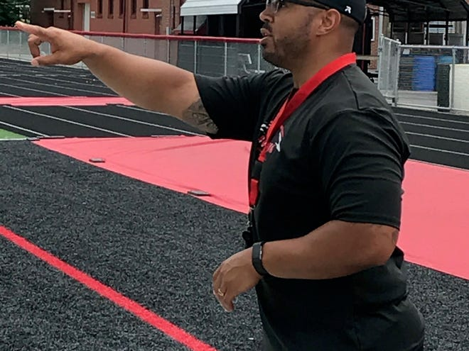 New Marion Harding head football coach Jerrod Slater is a 2005 graduate of Harding. He served as former coach John Brady's assistant and defensive coordinator.