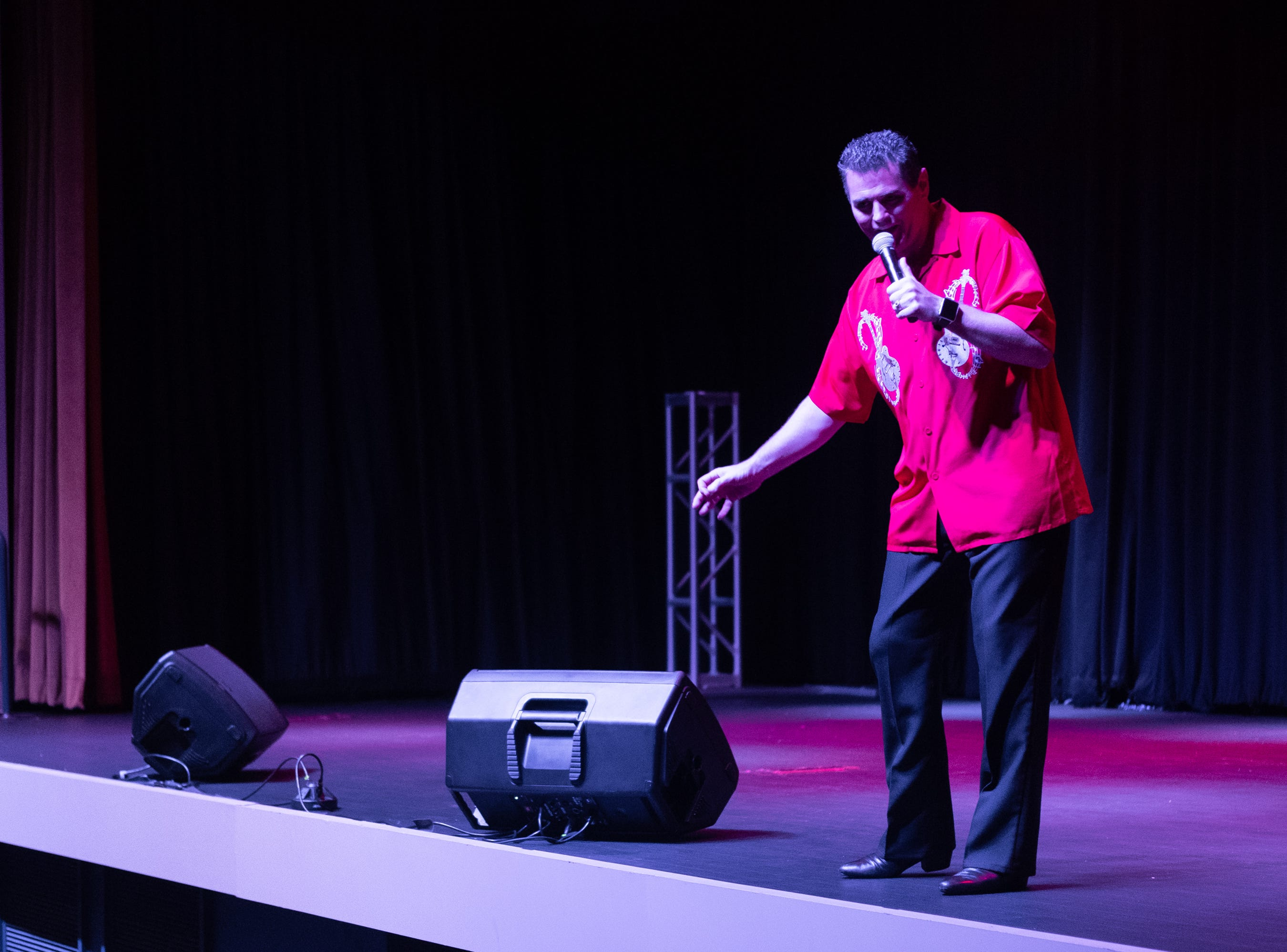 """David King sings """"I Gotta Woman."""" King won the Kissimmee EP Continentials contest."""