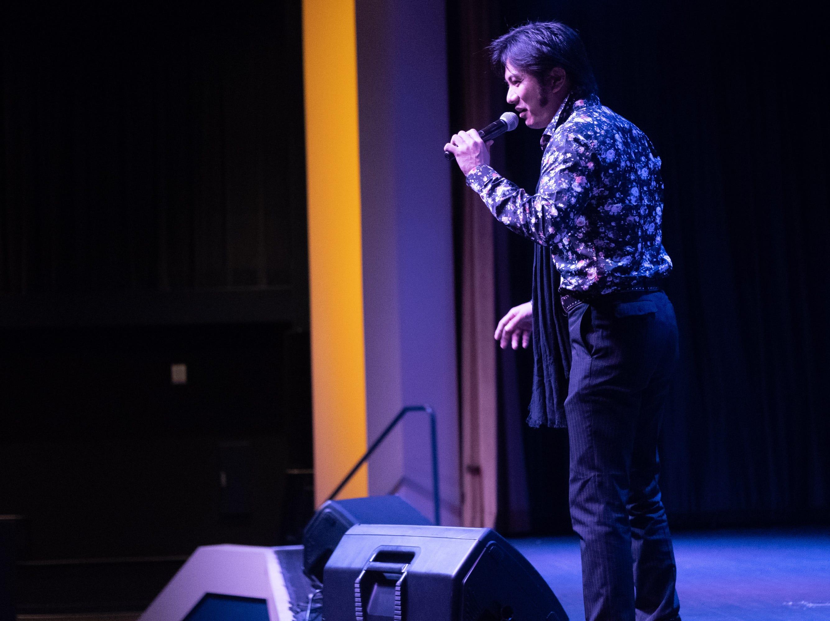 "Yukihiro Nishijima sings ""Wonder Of You."" Nishijima won an Elvis tribute contest in Japan."