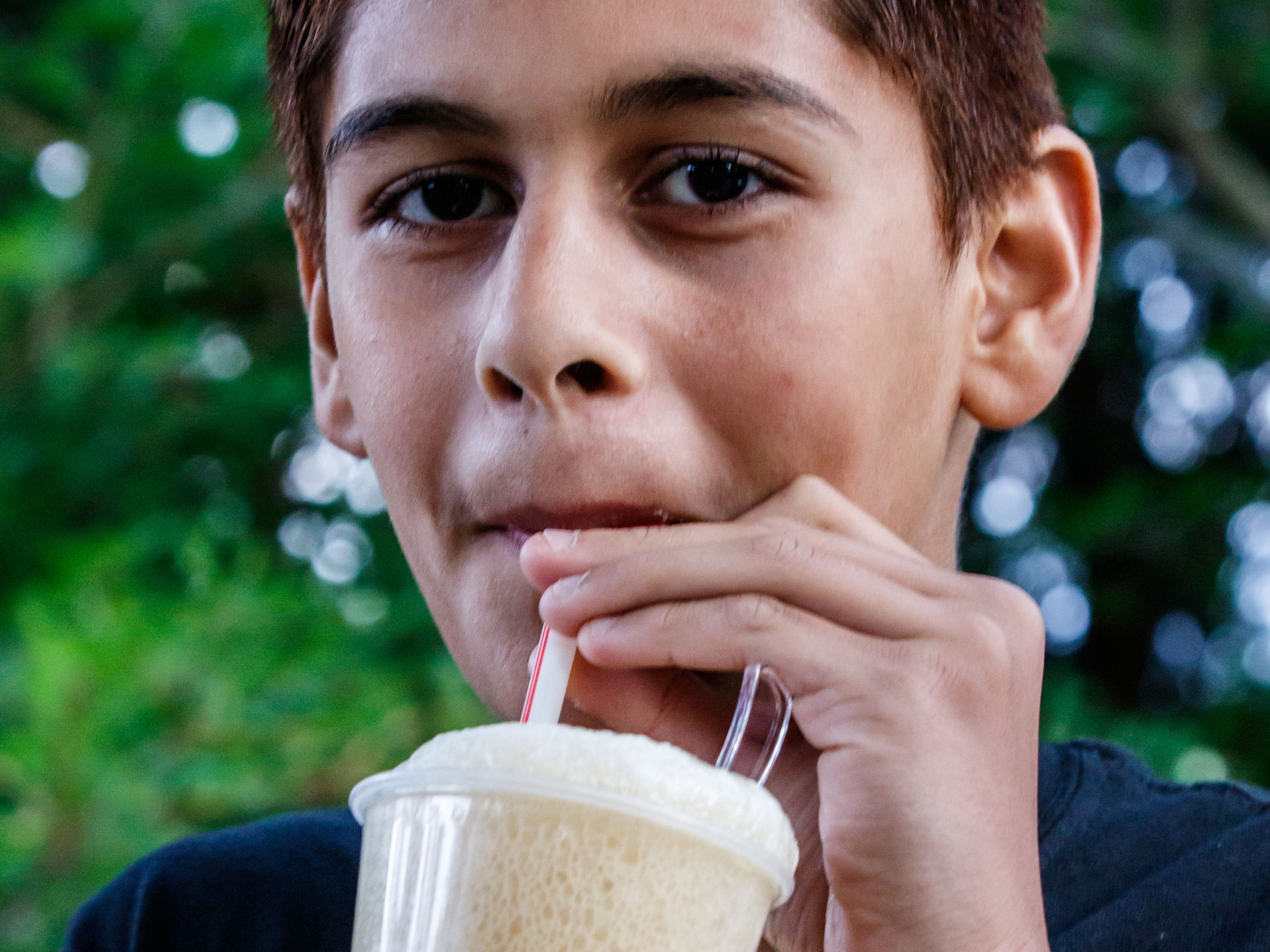 Jai Sen, 13, of Brookfield enjoys a root beer float during the Brookfield Public Library's Ice Cream Social on Tuesday, August 7, 2018. The free event, sponsored by Friends of the Library, celebrates the end of Summer Reading with ice cream and music.