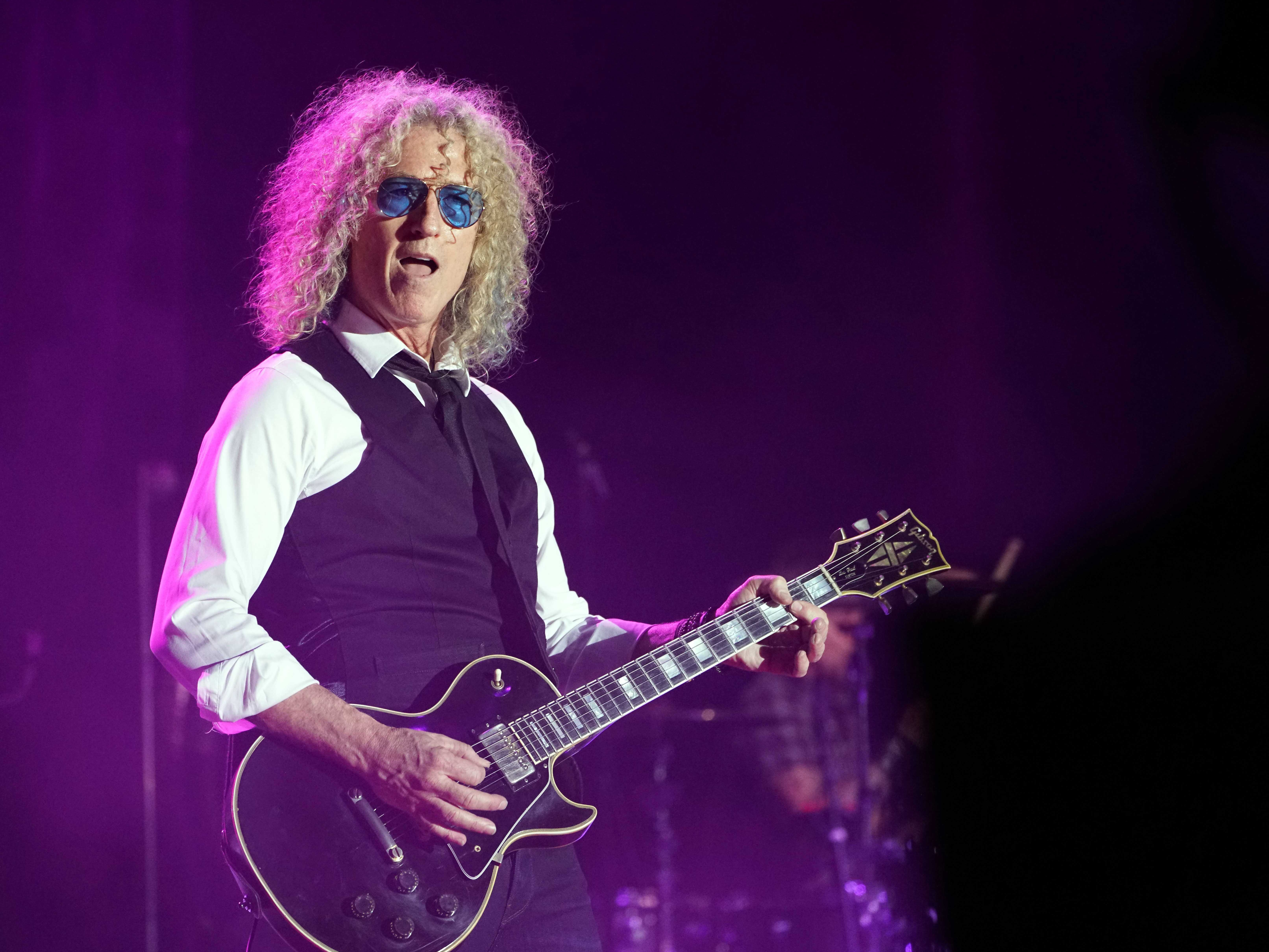 2018: Foreigner guitarist Bruce Watson performs during a show at the Buffalo Chip campground outside Sturgis.