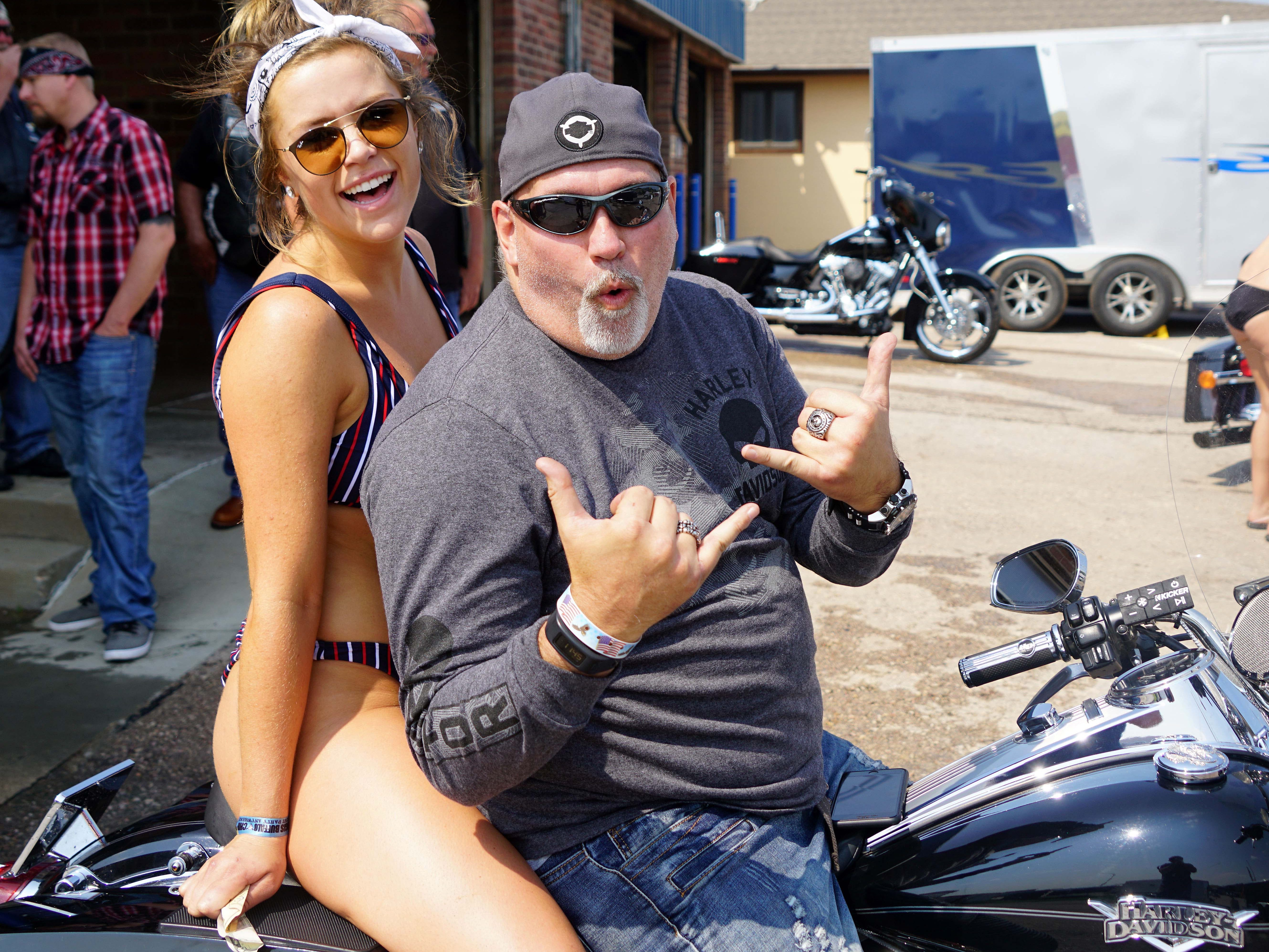 2018: A common sight at the Sturgis rally.