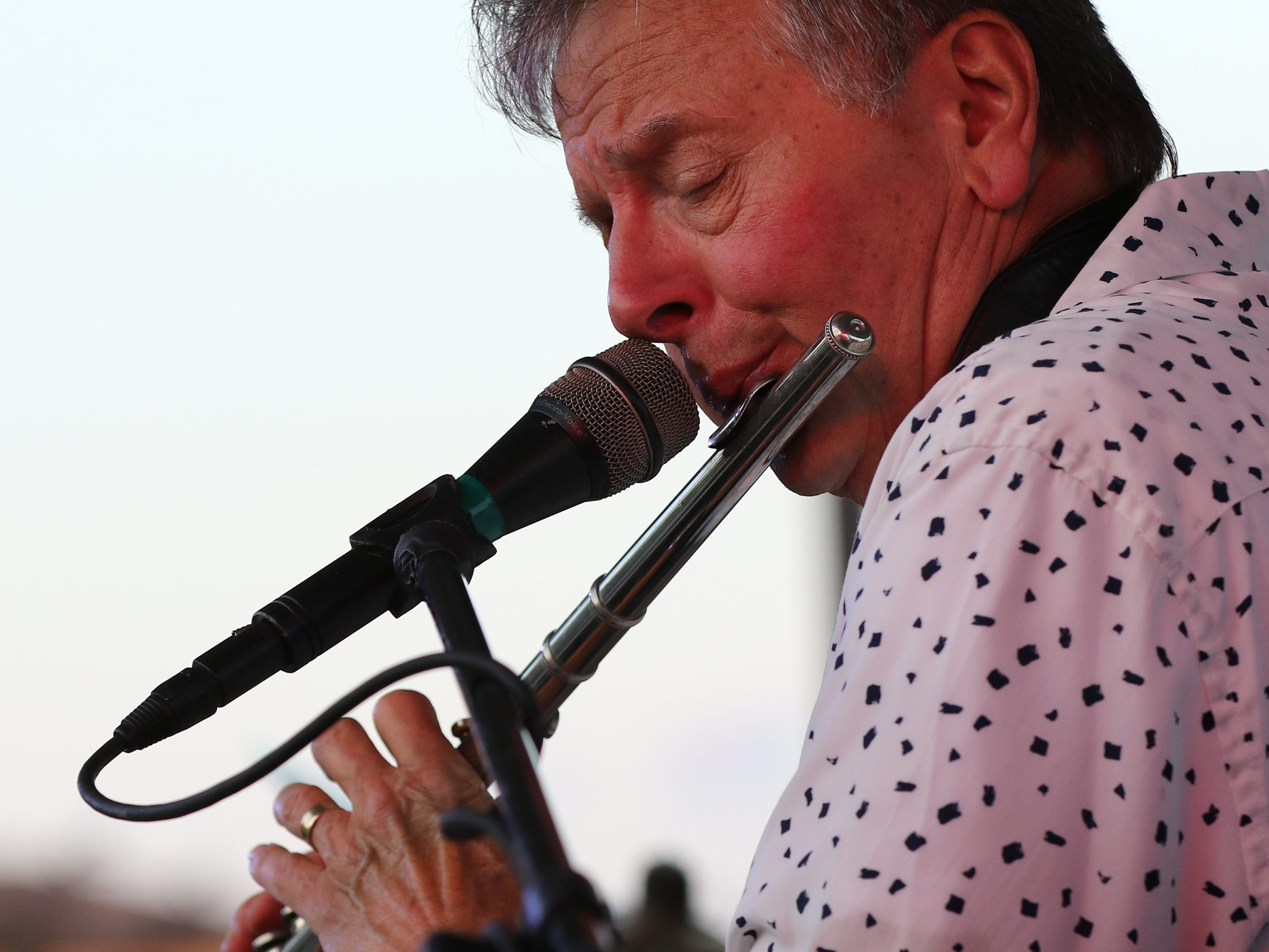 Warren Wiegratz performs with Streetlife with at a New Berlin Concerts at City Center on Aug. 8.