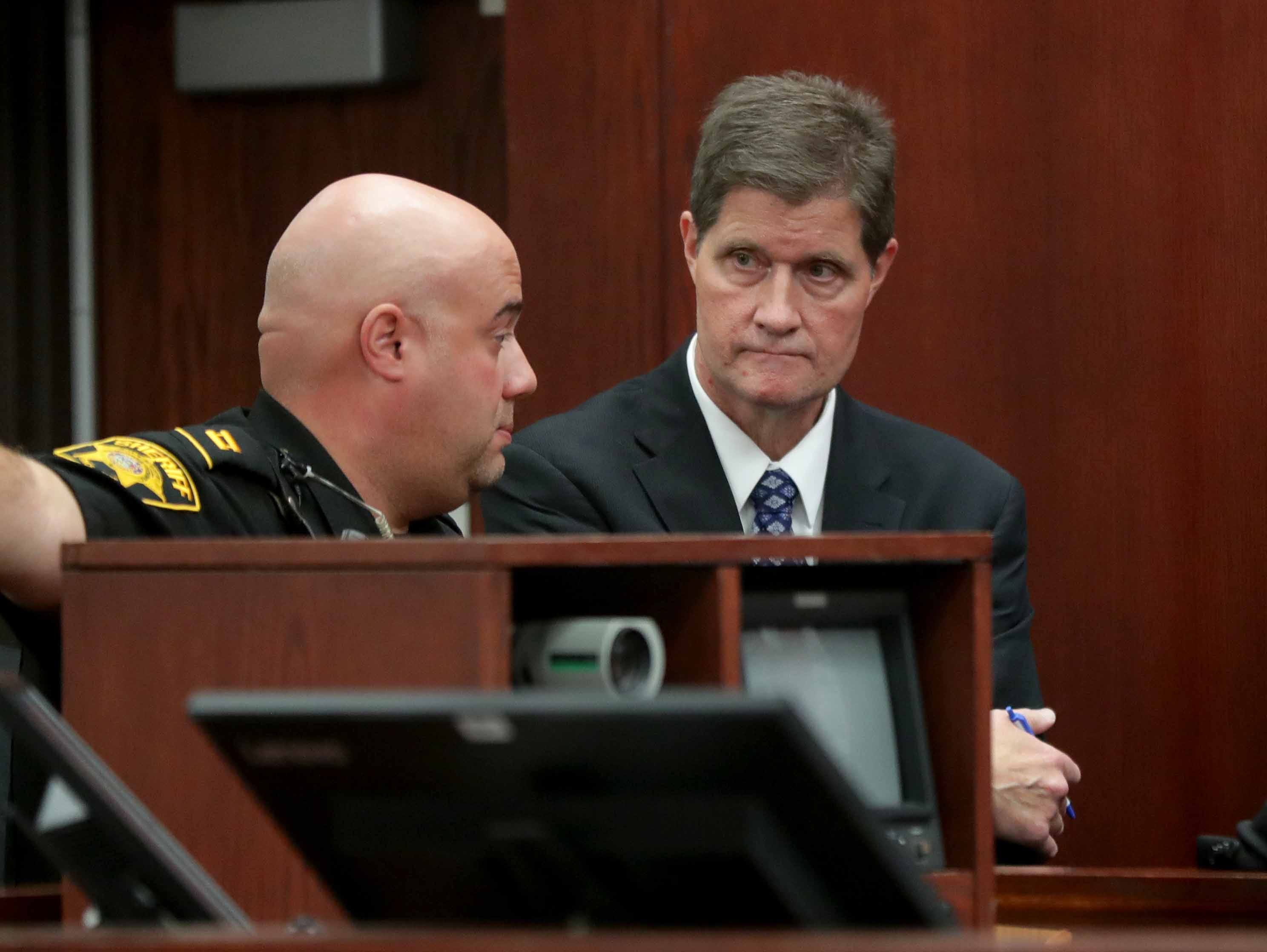 Milwaukee County District AttorneyJohnChisholm appears for the state before the appearance of Jonathan Copeland Jr., 30, who is charged in the fatal shooting of Milwaukee Police Officer Michael Michalski.