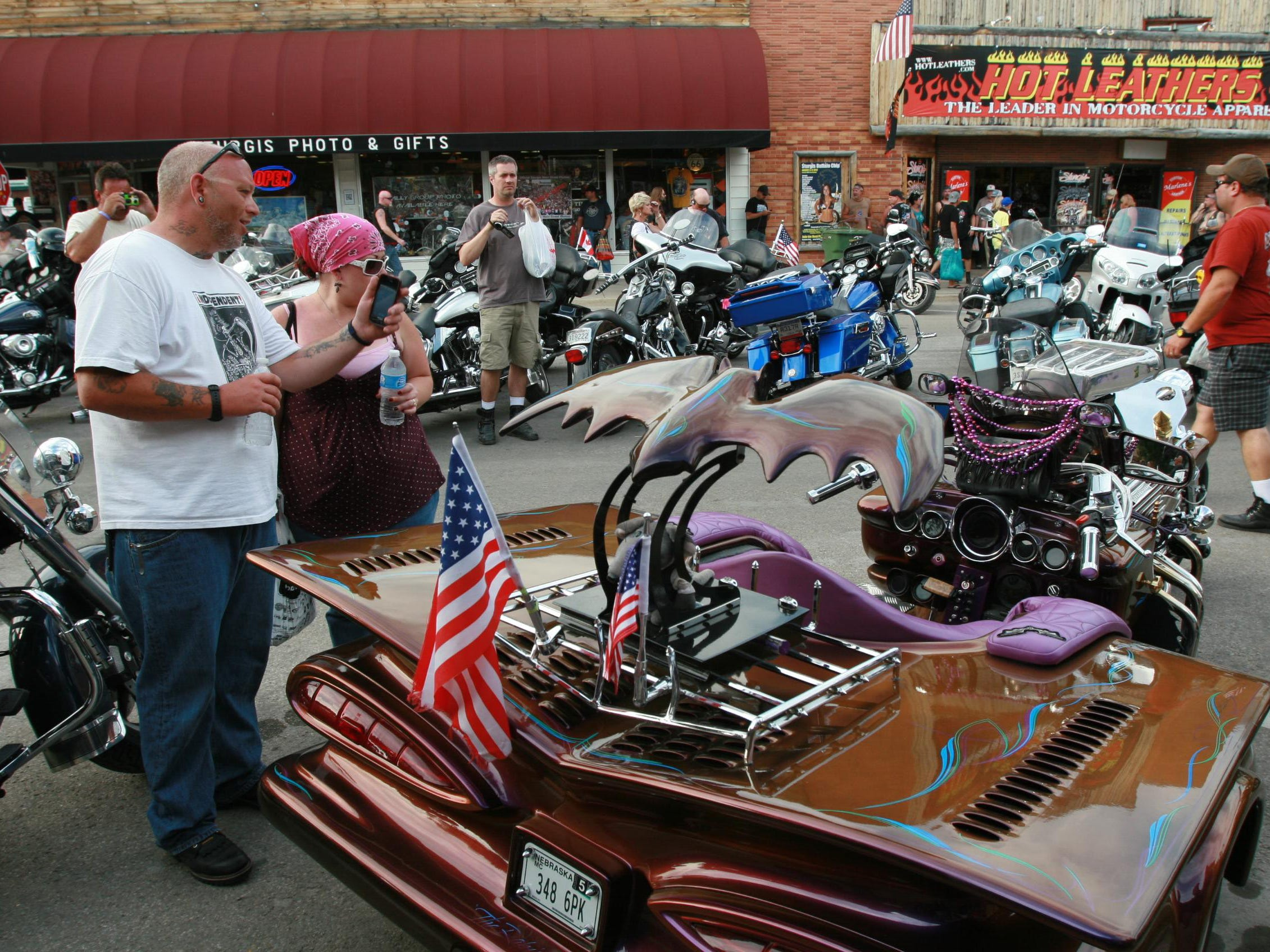 2012: The motorcycles themselves become a tourist attraction at the annual rally in Sturgis.