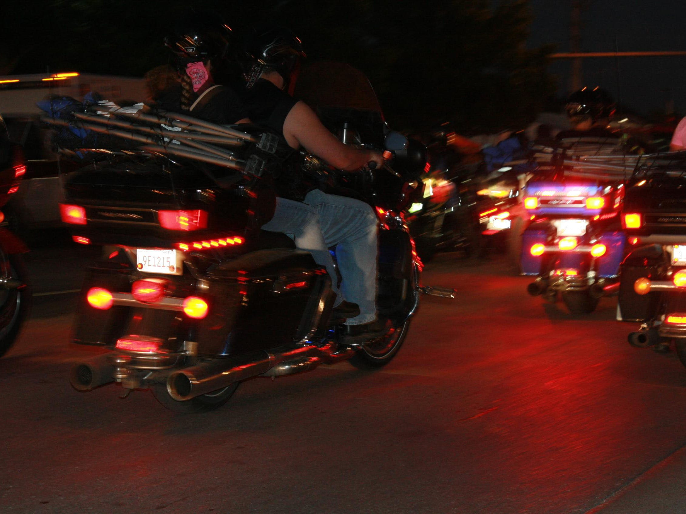 2012: The action during bike week in Sturgis lasts well into the evening. The annual rally draws visitors from around the country and the world.