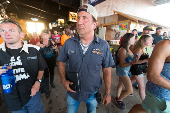 Jesse James Dupree, lead singer with the band Jackyl, is shown inside the enormous Full Throttle Saloon owned by a friend and adjacent to his Pappy Hoel Campground & Resort.