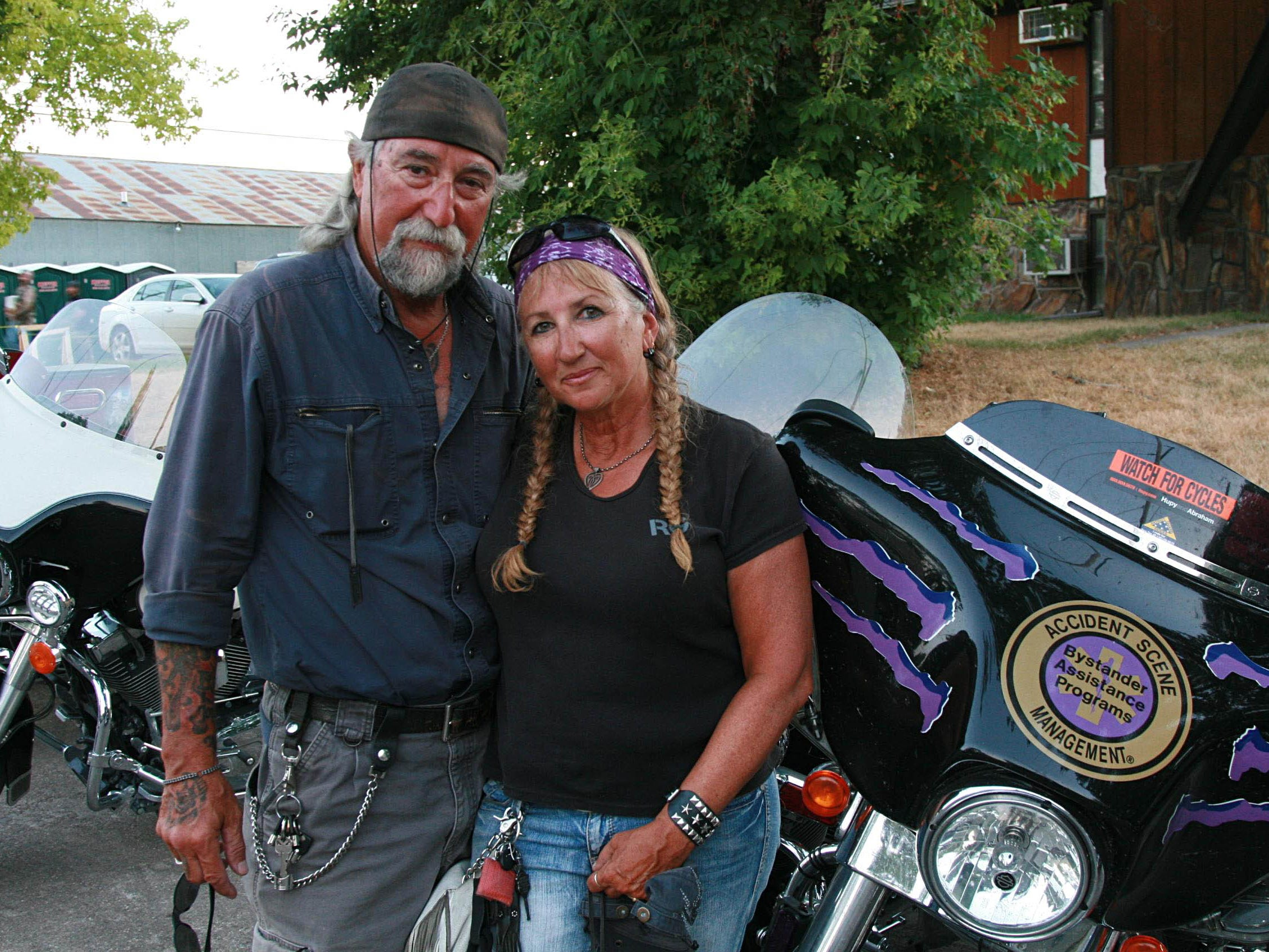 2012: Tony and Vicki Sanfelipo of Milwaukee have been coming to the Sturgis Rally since the mid-1980s. Tony Sanfelipo is the founder of Wisconsin ABATE, a group that promotes bikers' rights.