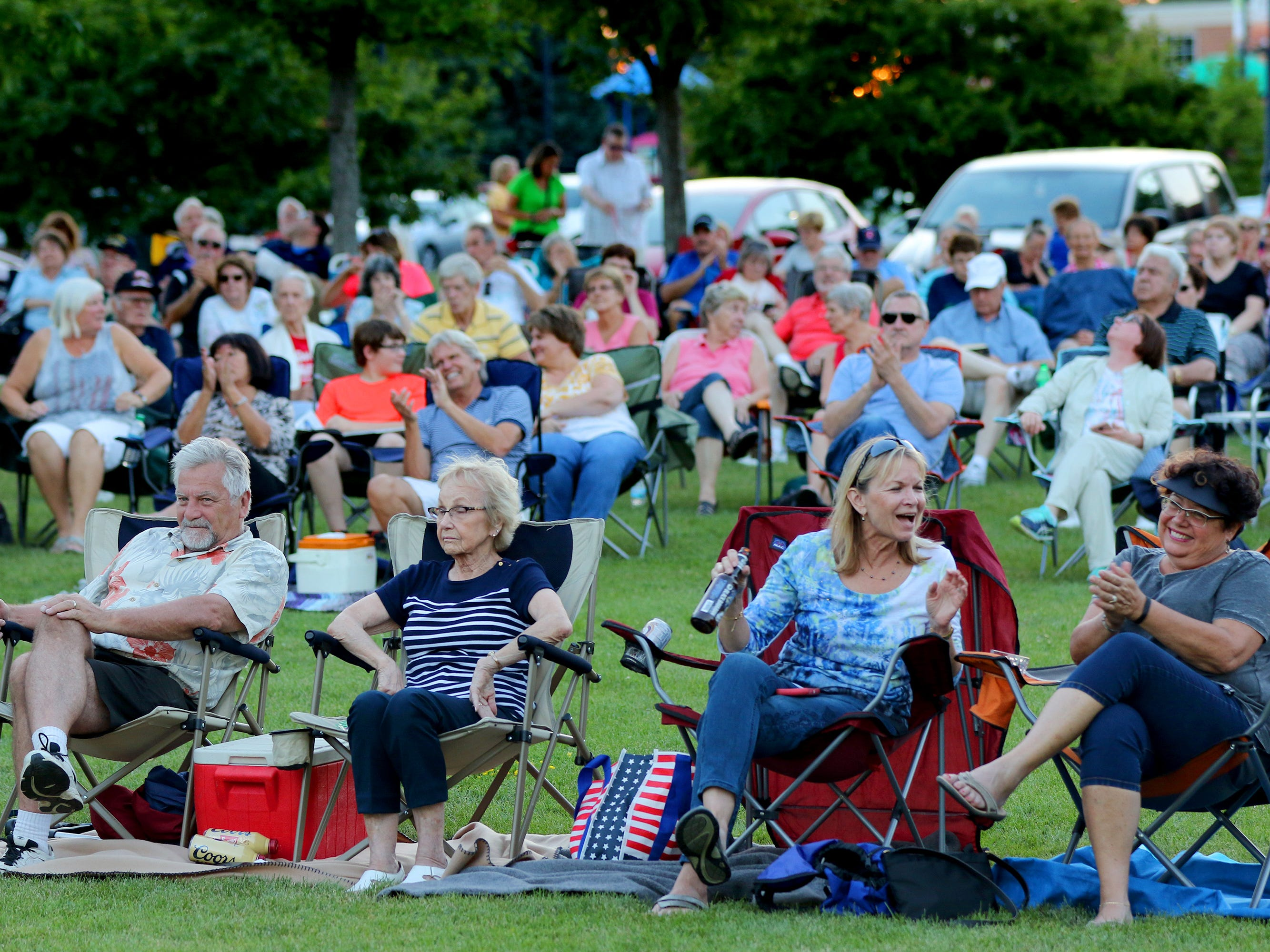 The crowd enjoys Streetlife with Warren Wiegratz perform at a New Berlin Concerts at City Center on Aug. 8.