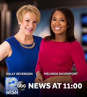 Sally Severson and Melinda Davenport will co-anchor the new 11 a.m. newscast on WISN-TV (Channel 12) when it starts Sept. 10.