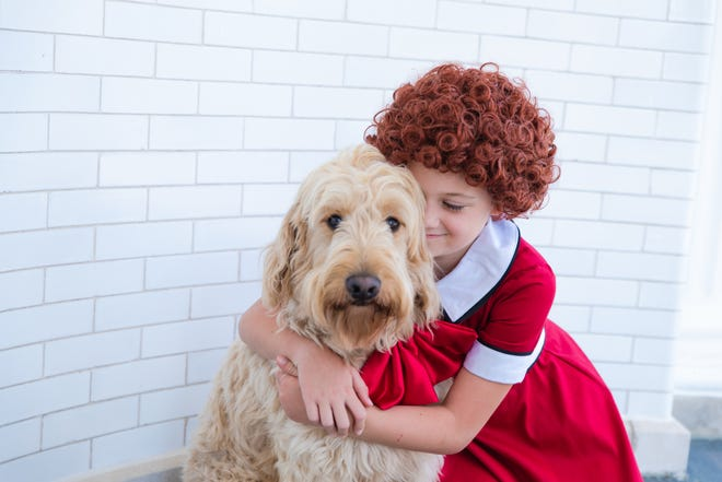 """Nine-year-old Callie Jones stars in Muncie Civic Theatre's production of the musical """"Annie"""" Aug. 10-26, 2018."""